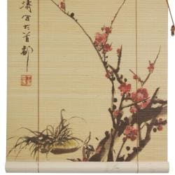 Bamboo Sakura Blossom Blinds (24 in. x 72 in.) (China)