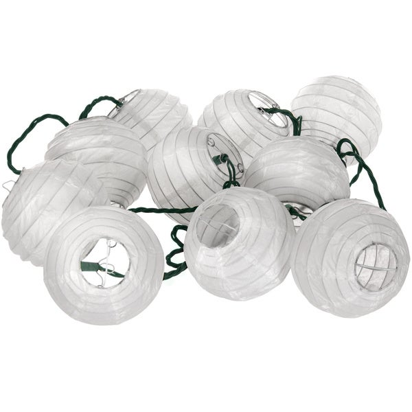Shoji Paper Snow Maru Ball String Lights (China)