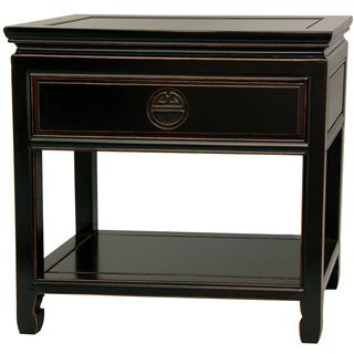 Rosewood Antique Black Bedside Table (China)