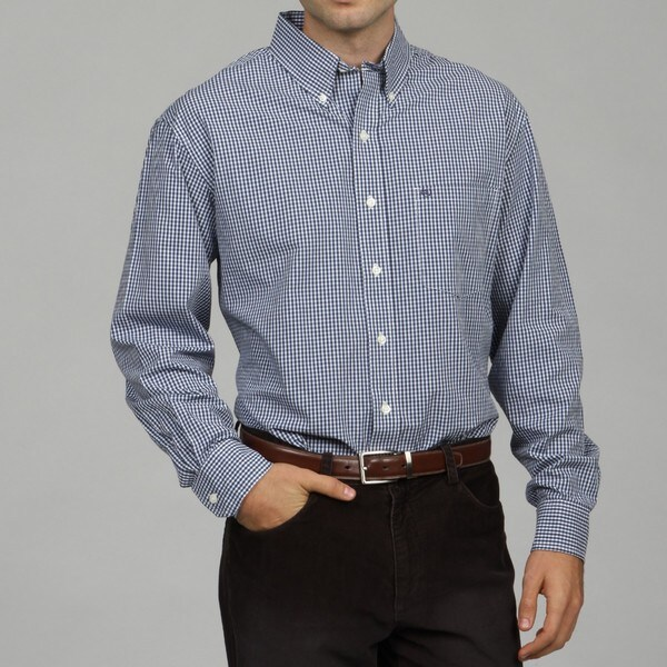 Izod Men's Check Woven Shirt