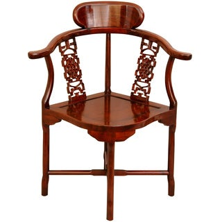 Rosewood Honey Corner Chair (China)
