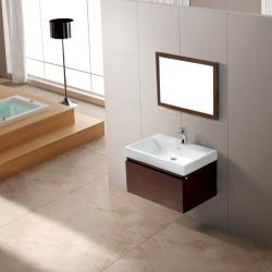 Vigo Wall Mounted Agalia Vanity with Sink and Mirror