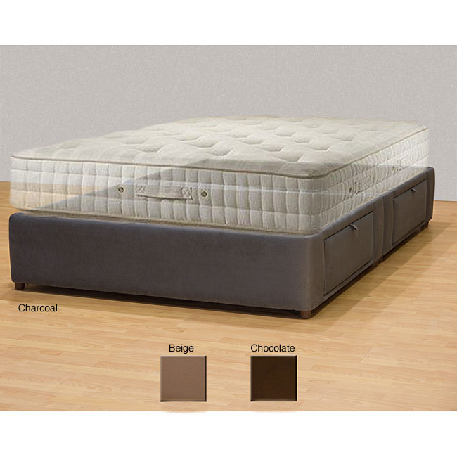 tiffany 4 drawer king platform bed storage mattress box 13439166 shopping. Black Bedroom Furniture Sets. Home Design Ideas
