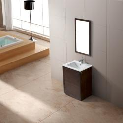 Vigo Saba Single Freestanding Vanity with Mirror