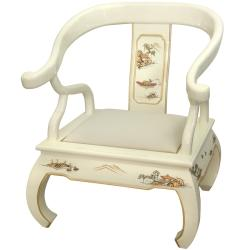 Wood Ivory Landscape Ming Chair (China)