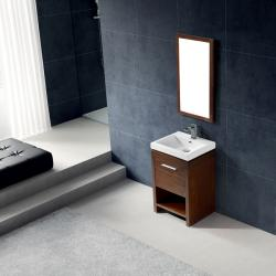 Vigo Adonia Single Freestanding Vanity with Sink and Mirror
