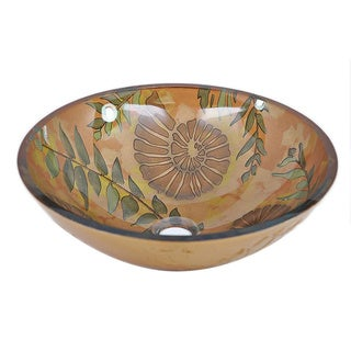 Fossil Grove Modern Tempered Glass Vessel Bathroom Sink