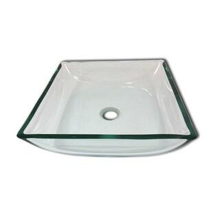 The Gavin Modern Tempered Glass Vessel Bathroom Sink by Flotera