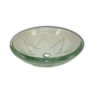 Flotera Star Flower Tempered Glass Vessel Sink