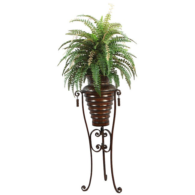 Laura Ashley Realistic Boston Fern Plant