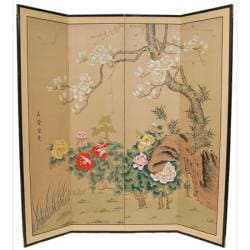 Wood and Silk 3-foot Harmony in Nature Room Divider (China)