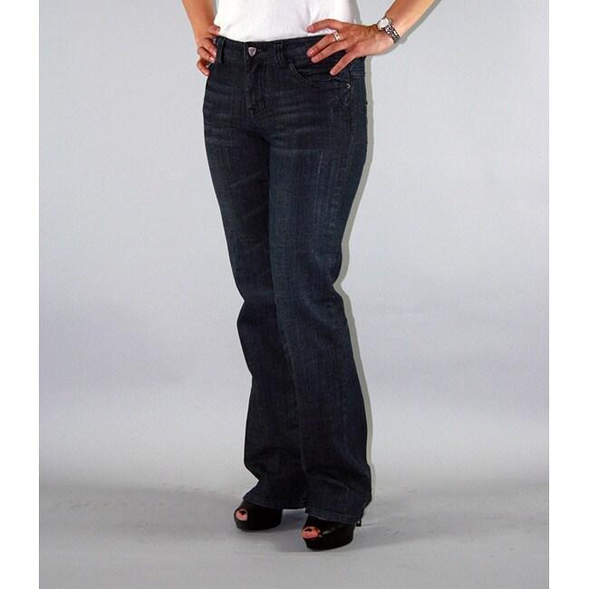 Institute Liberal Women's Slub Stretch Twill Bootcut Jeans