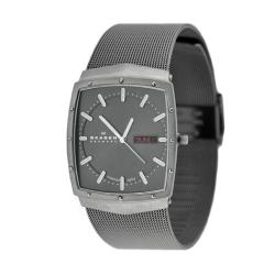 Skagen Men's Grey Dial Titanium Watch