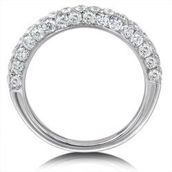 14k White Gold 1ct TDW Diamond Wedding Band (H-I, I1-I2)