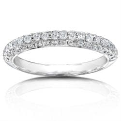 14k White Gold 1/2ct TDW Diamond Pave Band