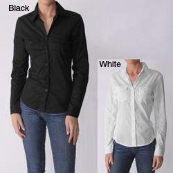 Glam Junior's Long-sleeve Button-down Blouse