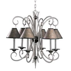 Tuscan Gold/ Pewter 6-light Chandelier