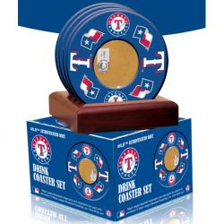Steiner Sports Texas Rangers Coasters w/ Game Field Dirt (Set of 4)