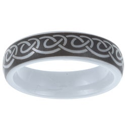 Two-tone Ceramic Men's Knot Design Band (6 mm)