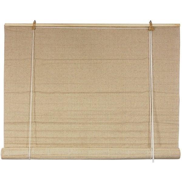 Jute Fiber 60-inch Bianco Roll-up Blinds (60 in. x 72 in.) (China)