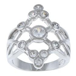 La Preciosa Sterling Silver Bezel-set Cubic Zirconia Ring