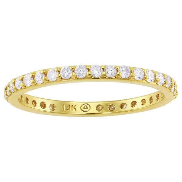 Beverly Hills Charm 14k Yellow Gold 1/2ct TDW Diamond Eternity Stackable Wedding Band (H-I, I2-I3)