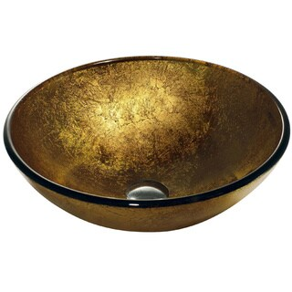 VIGO Liquid Gold Glass Vessel Bathroom Sink