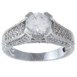 La Preciosa Sterling Silver White Cubic Zirconia Ring