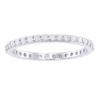 Beverly Hills Charm 14k White Gold 1/2ct TDW Diamond Eternity Stackable Wedding Band (H-I, I2-I3)
