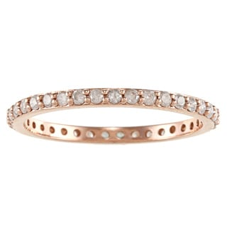 Beverly Hills Charm 10k Gold 1/2ct Traditional Diamond Eternity Wedding Band (H-I, I2-I3)