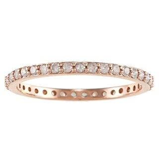 Beverly Hills Charm 10k Rosegold 1/2ct TDW Diamond Stackable Eternity Wedding Band Ring (H-I, I2-I3)