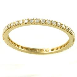 Beverly Hills Charm 14k Gold 1/3ct TDW Diamond Eternity Band (H-I, I2-I3)