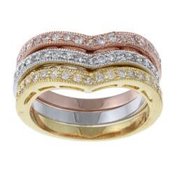 La Preciosa Sterling Silver Stackable Cubic Zirconia Ring