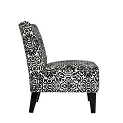 angelo:HOME Davis Modern Damask Black and White Armless Chair