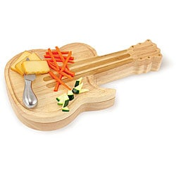 Picnic Time Guitar Cheeseboard with Cheese Tools