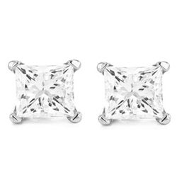 14k White Gold 1/4ct TDW Diamond Stud Earrings (I, VS2)