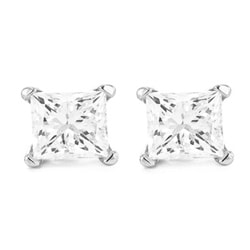 14k White Gold 1/2ct TDW Certified Diamond Stud Earrings (I, VS2)