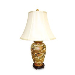 Flat Lotus Porcelain Table Lamp