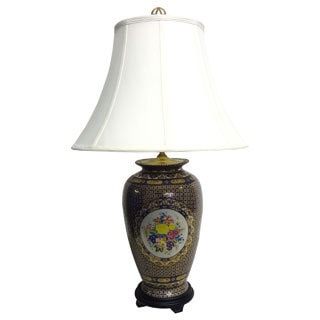 Royal Limogesque Porcelain Table Lamp