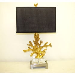 Golden Coral Table Lamp