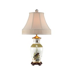 Secret Garden Birds Porcelain Table Lamp