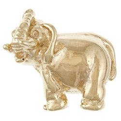 Sterling Essentials Gold Plated Silver Lucky Elephant Bead