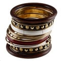 Set of 12 Brass and Wood Bijoux Bangles (India)