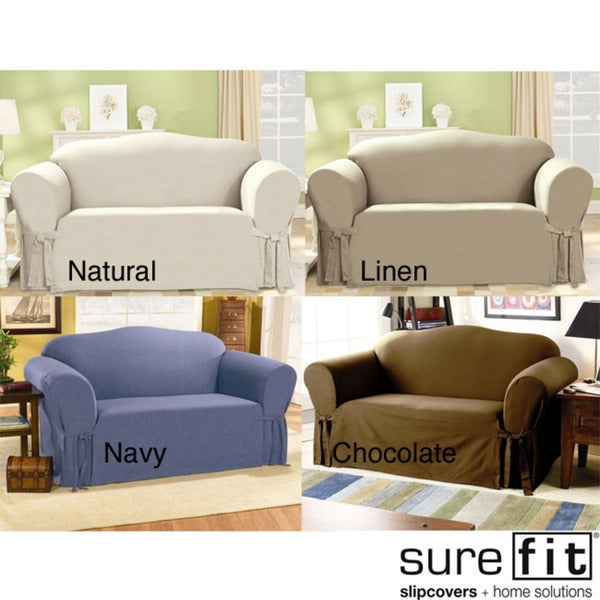 Cotton Duck Loveseat Slipcover Overstock Shopping Big Discounts On Sure Fit Loveseat Slipcovers