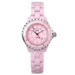 Ceramic Couture Women's Pink Designer Ceramic Watch