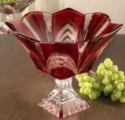 Fifth Avenue Aurora Crystal 8-inch Square Pedestal Bowl