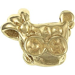 Sterling Essentials Gold over Silver Baby Carriage Bead