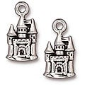 Beadaholique Silverplated Pewter Fairy Castle Charms (Set of 2)