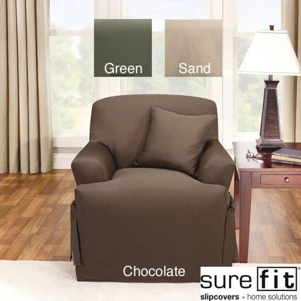 Sure Fit Logan T-cushion Chair Slipcover