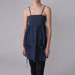 Ci Sono by Journee Juniors Two Pocket Spaghetti Strap Denim Dress